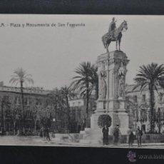 Postales: ANTIGUA POSTAL DE SEVILLA. PLAZA Y MONUMENTO DE SAN FERNANDO. SIN CIRCULAR. Lote 43729649