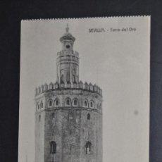 Postales: ANTIGUA POSTAL DE SEVILLA. TORRE DEL ORO. SIN CIRCULAR. Lote 43729677