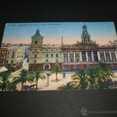 Postales: CADIZ HOSPITAL DE SAN JUAN DE DIOS Y AYUNTAMIENTO. Lote 43820698