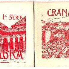 Postales: 2 ALBUMS DESPLEGABLES. COLECCION COMPLETA DE 20 POSTALES.SERIE 1 Y 2.GRANADA-ALHAMBRA. CA.1930. Lote 43859589