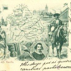 Postales: SEVILLA. COLECCION PROVINCIAS ESPAÑOLAS. CIRCULADA EN 1903.. Lote 43893156
