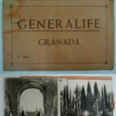 Postales: ANTIGUAS POSTALES FOTOGRÁFICAS. BLOC CON 10 POSTALES. GENERALIFE. GRANADA. SERIE 3ª. Lote 44017271
