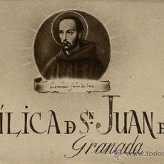 Postales: HUECOGRABADO FOURNIER -VITORIA- BLOC 10 POSTALES BASILICA D SN. JUAN D DIOS GRANADA. Lote 44142403