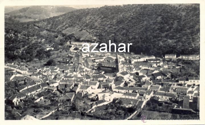 ALAJAR, HUELVA,1935,POSTAL FOTOGRAFICA, VISTA DE LA POBLACION, MAGNIFICA (Postales - España - Andalucía Antigua (hasta 1939))