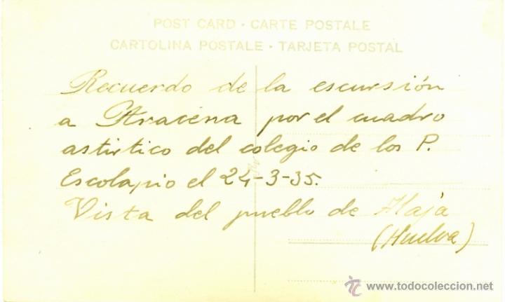 Postales: ALAJAR, HUELVA,1935,POSTAL FOTOGRAFICA, VISTA DE LA POBLACION, MAGNIFICA - Foto 2 - 44231924