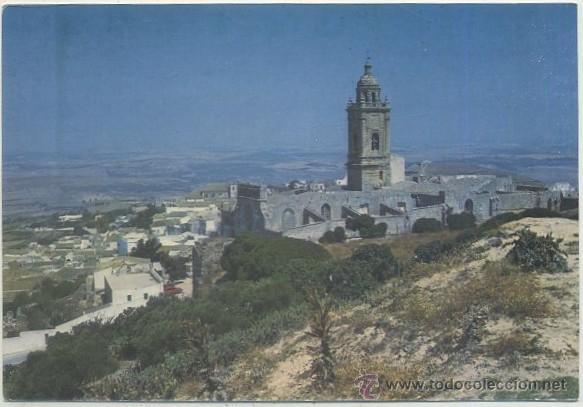 POSTAL DE MEDINA SIDONIA (CADIZ). VISTA PARCIAL Y STA. MARIA DE LA CORONADA P-ANMED-003 (Postales - España - Andalucia Moderna (desde 1.940))