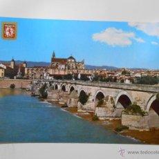 Postales: POSTAL DE CORDOBA. PUENTE ROMANO. AL FONDO VISTA PARCIAL. TDKP1. Lote 44449077