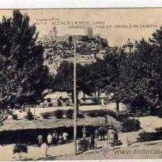 Postales: ALCALA LA REAL JAEN. LOPEZ FOT. JARDINES DEL PASEO Y CASTILLO DE LA MONTA. SIN CIRCULAR.. Lote 44467477