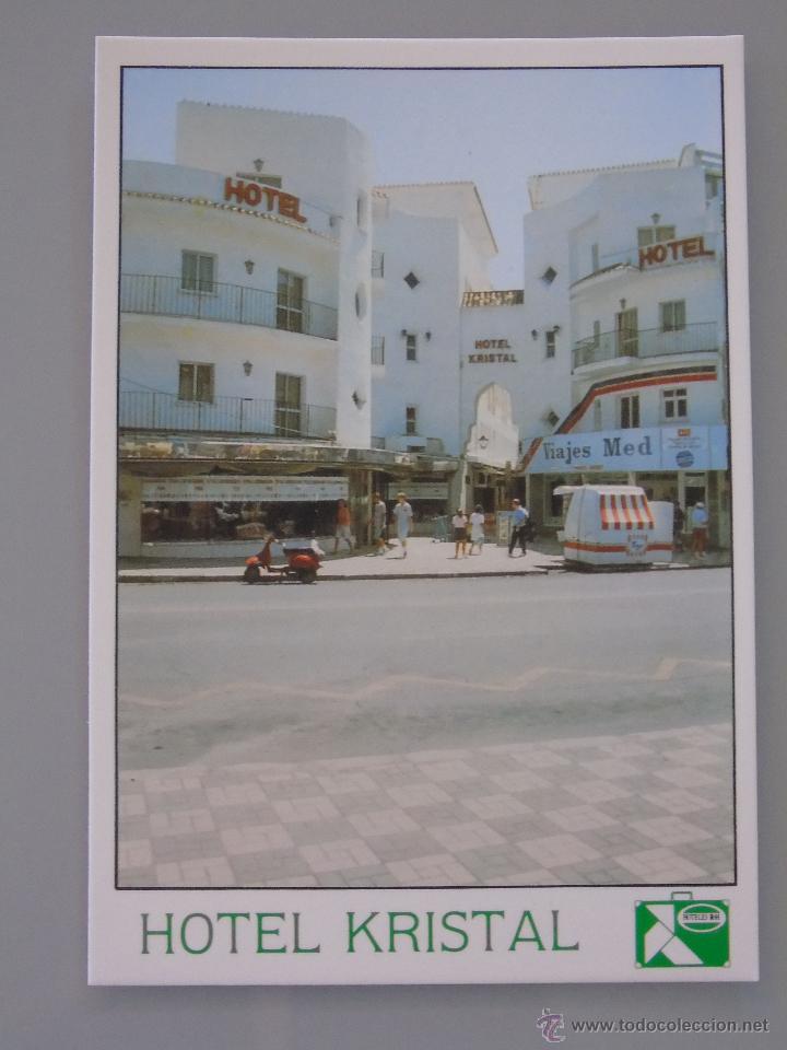 POSTAL DE MÁLAGA. AÑO 1990. TORREMOLINOS. HOTEL KRISTAL, CALLE CAUCE. 339 (Postales - España - Andalucia Moderna (desde 1.940))