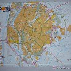 Postales: MAGNIFICA POSTAL DE - SEVILLA - EXPO 92 -MAPA DE SITUACION -. Lote 44809148