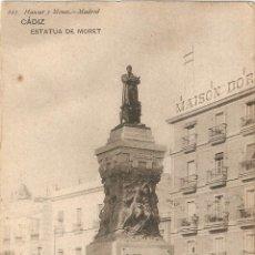 Postales: CADIZ Nº 623 ESTATUA DE MORET HAUSER Y MENET - MADRID SIN CIRCULAR. Lote 44832312