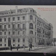 Postales: ANTIGUA POSTAL DE MALAGA. EDIFICIO DE LA DIRECCION Y OFICINAS DE LOS F.C. ANDALUCES. SIN CIRCULAR. Lote 44891787