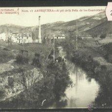 Postales: ANTEQUERA - AL PIE DE LA PEÑA DE LOS ENAMORADOS - FOTOGRAFICA - J.BURGOS - (24880). Lote 45259613