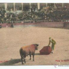 Postales: POSTAL GIBRALTAR - TOROS, PASE DE MULETA POR BAJO - NO ESCRITA. Lote 45489009