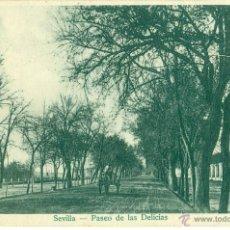 Postales: SEVILLA. PASEO DE LAS DELICIAS. HACIA 1903.CIRCULADA.. Lote 45504688