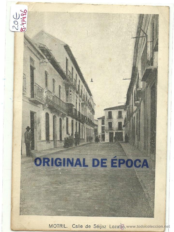 (PS-41496)POSTAL DE MOTRIL-CALLE DE SEIJAZ LOZANO (Postales - España - Andalucía Antigua (hasta 1939))