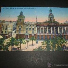 Postales: CADIZ HOSPITAL DE SAN JUAN DE DIOS Y AYUNTAMIENTO. Lote 45689376
