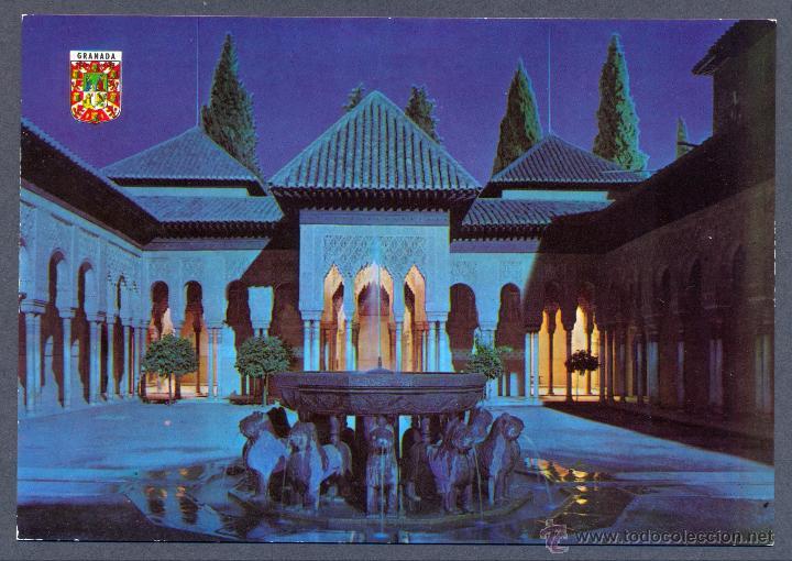 Granada Patio De Los Leones De Noche Comprar Postales De