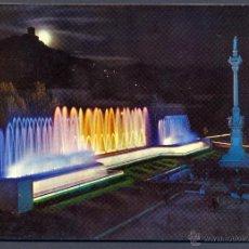 Postales: GRANADA. FUENTE MONUMENTAL DEL TRIUNFO ( NOCTURNA ). Lote 45842059
