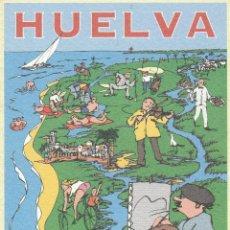 Postales: Nº 15447 POSTAL HUELVA ISLA CANELA AYAMONTE DIBUJO PATRONATO DE TURISMO. Lote 46030192