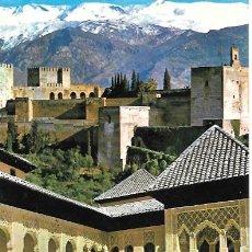 Postales: GRANADA - ALHAMBRA. Nº 1029. COMPOSICIÓN DE SIERRA NEVADA Y PATIO DE LOS LEONES - SIN CIRCULAR. Lote 46143087