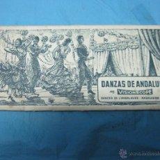 Postales: ACORDEON ANTIGUAS POSTALES VISIONSCOPE COLOR DANZAS DE ANDALUCIA. Lote 46234144