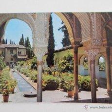 Postales: GRANADA, GENERALIFE: ARCADAS PATIO ACEQUIA. Lote 46255158