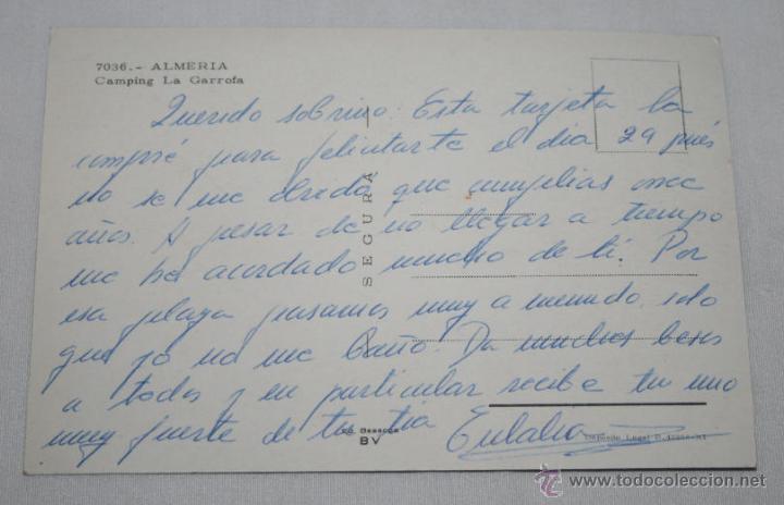 Postales: BONITA POSTAL - CAMPING LA GARROFA ALMERIA - SEGURA BEASCOA BV - Foto 2 - 46319795