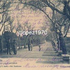 Postales: PUERTO REAL, CADIZ, PASEO DE LAS CANTERAS, EDIT.G.Y T.FOT.ZAMBRANO, SIN DIVIDIR. Lote 46356447