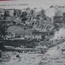 Postales: POSTAL RONDA MALAGA, LAVANDERAS EN EL RIO GUADALEVIN. ED. MARCOS MORILLA GUERRA, RONDA. Lote 46369997