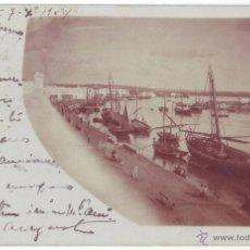 Postales: AYAMONTE (HUELVA): MUELLE. POSTAL FOTOGRÁFICA.NO CONSTA EDITOR. REVERSO SIN DIVIDIR.CIRCULADA (1904). Lote 46378359