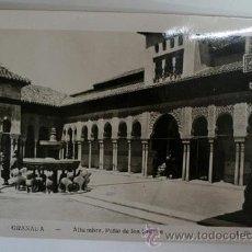 Postales - Antigua postal. GRANADA - Nº 90. Alhambra. Patio de Los Leones. L. Roisin. - 46687863