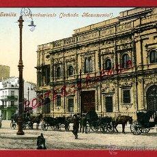 Postales: POSTAL SEVILLA, AYUNTAMIENTO, FACHADA MONUMENTAL, PURGER, P97262. Lote 46752788