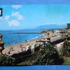 Postales: POSTAL DE MÁLAGA. MARBELLA AÑO 1963. PLAYA. 1579. Lote 46762175