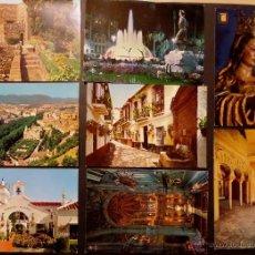 Postales: LOTE DE 8 POSTALES DE MALAGA. SIN CIRCULAR DEL AÑO 1966. VER COMENTARIOS. Lote 46977955