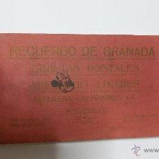 Postales: BLOC DE 20 POSTALES ANTIGUAS DE GRANADA, RECUERDO DE GRANADA - ABELARDO LINARES, 2ª SERIE (1940). Lote 47044672