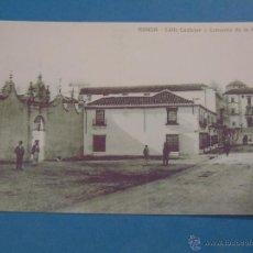 Postales: POSTAL FACSÍMIL DE MÁLAGA. SIGLO XIX, PRINCIPIOS SIGLO XX. 10 RONDA, CALLE CASTELAR CONVENTO MERCED. Lote 47084957