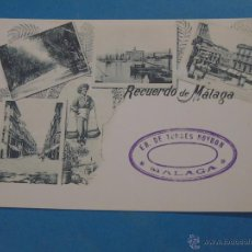 Postales: POSTAL FACSÍMIL DE MÁLAGA. SIGLO XIX, PRINCIPIOS SIGLO XX. 84 IMÁGENES TÍPICAS. Lote 47085266