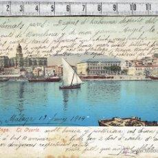 Postales: TARJETA POSTAL MALAGA PUERTO 1904.. Lote 47112609