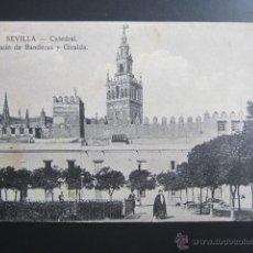 Postales: POSTAL SEVILLA. CATEDRAL. PATIO DE BANDERAS Y GIRALDA. CIRCULADA. . Lote 47571266