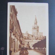 Postales: POSTAL SEVILLA. PATIO DE BANDERAS Y LA GIRALDA. . Lote 47585755