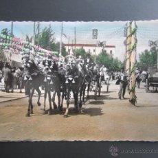 Postales: POSTAL SEVILLA. CARROZA DE SEIS CABALLOS. CIRCULADA 1957. Lote 47610623