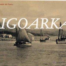 Postales: MÁLAGA.- DETALLE DEL PUERTO. Lote 47966610