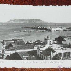 Postales: FOTO POSTAL DE ALGECIRAS, VISTA PARCIAL DEL PUERTO Y PEÑON DE GIBRALTAR, N.32, ED. SUR, NO CIRCULADA. Lote 48370845