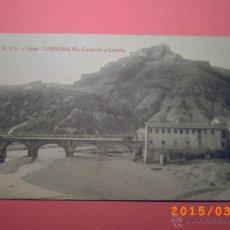 Postales: SEVILLA - A.T.V. 2588 CARDONA - RIO CARDONER Y CASTILLO - ED. ANGEL TOLDRÁ VIAZO. Lote 48456473