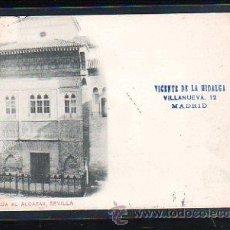 Postales: TARJETA POSTAL DE SEVILLA - ENTRADA AL ALCAZAR. 101. HAUSER Y MENET. VER DORSO. Lote 48640701