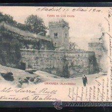 Postales: TARJETA POSTAL DE GRANADA - ALHAMBRA. TORRE DE LOS PICOS. 168. HAUSER Y MENET. 1900. VER DORSO. Lote 48641756