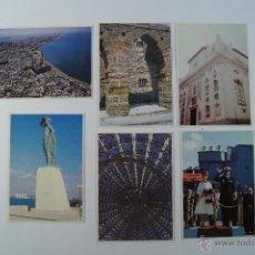 Postales: LOTE 6 POSTALES DE CADIZ DEL 94. Lote 48670419