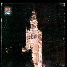 Postales: SEVILLA: LA GIRALDA, VISTA NOCTURNA. / CIRCULADA 1966.. Lote 48671369