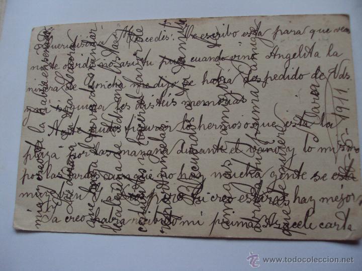 Postales: tarjeta postal prefrenqueada y circulada de 1911 - Foto 2 - 49167657